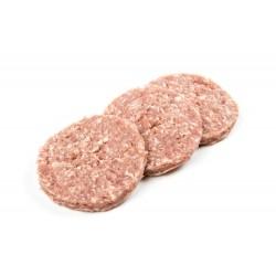 Hamburger di Maiale 4 x 125 gr Carne Italiana 100% allevata in Italia